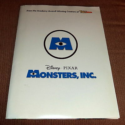 2001 DisneyPixar Monsters Inc Movie Press Release Package/Kit
