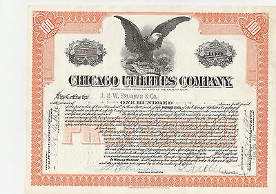 Chicago Utilities Co. 1913 orange