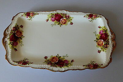 Royal Albert Old Country Roses Rectangular Sandwich Tray First Quality