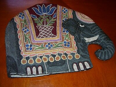 Woven Embroidered Large Elephant Tea Cosy Vintage Style