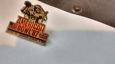Nfl American Bowl 87 Metal Pin Badge Wembley August 9Th 1987