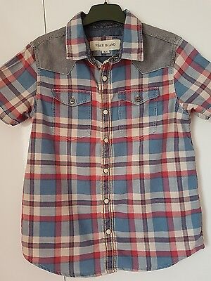 Boys River Island checked shirt age 8 years immaculate condition. Freshly washed