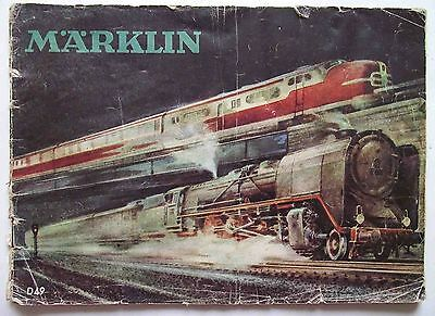 1949 Marklin Model Railway Catalogue Brochure 49D ENGLISH PAGE MISSING POOR COND