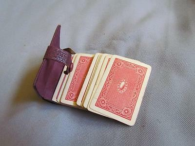 Antique Playing Cards Miniature with Case US Playing Cards Fauntleroy