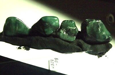Rough-EMERALD CRYSTAL-tumbled specimen,30x21x12mm(4pc)120.49ct,.85oz,BE-B58H