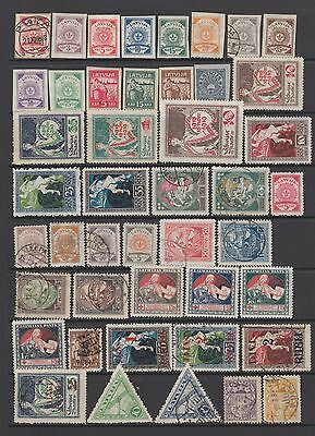 Latvia early collection , 92 stamps.