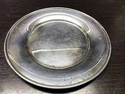 """ANTIQUE HEAVY TIFFANY AND CO MAKERS STERLING SILVER 7.5"""" Bread Plate MONO"""