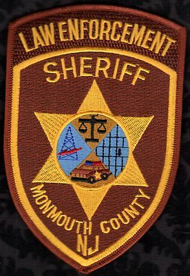 Monmouth County New Jersey Sheriff Shoulder Patch  LAW ENVORCEMENT