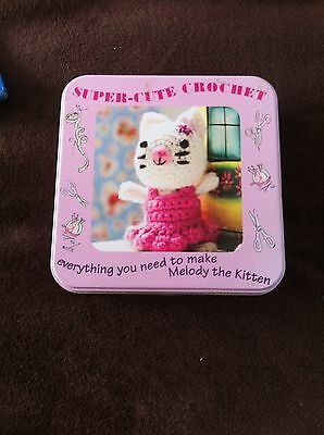 Melody Kitten Crochet Kit In A Tin