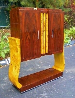 Quality Elm and rosewood Art Deco style Bar