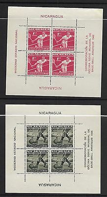 Nicaragua sc#C308a (C296-C308 set of souvenir sheets) mint nh vf 1949 Sports set