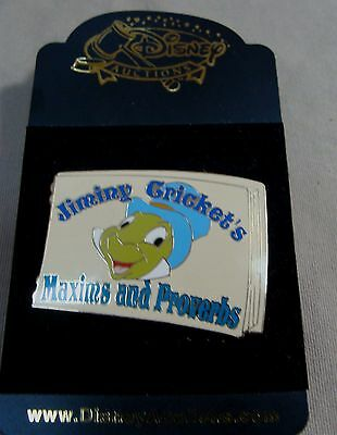Walt Disney Limited Edition 250 Jiminy Cricket Book Cover Maxims & Proverbs Pin