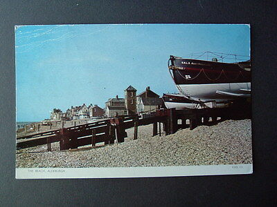 1955 Postcard - RNLI Lifeboat - RNLB Abdy Beauclerk - Aldeburgh Beach Suffolk