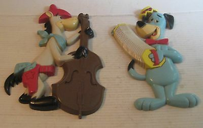 Set of 2 HOMCO Wall Plaques Huckleberry Hound Quick Draw McGraw