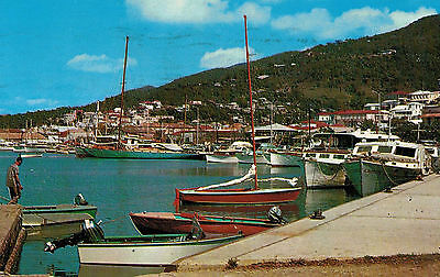 Charlotte Amalie,St.Thomas,U.S.Virgin Islands,Water Front,Used,1962