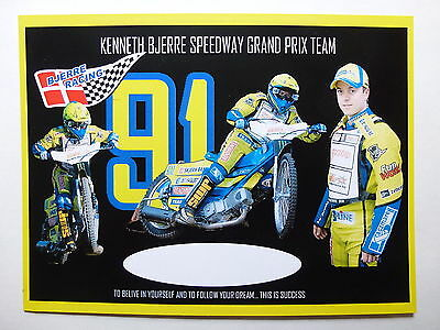 Kenneth Bjerre Speedway Grand Prix Official Photocard