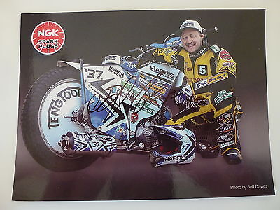 Chris Harris Signed Speedway Grand Prix Official Photocard