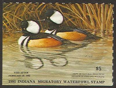 Indiana Duck Stamp 1981 $5.00 *SALE*