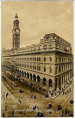 Old Postcard of the General Post Office, Sydney, Australia.