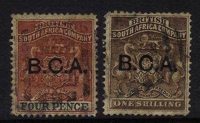 British Central Africa 3 & 7 Used 1891 4p & 1/- $26.50
