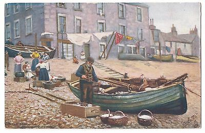 Old Postcard 'On The Beach' Broughty Ferry - Tuck's