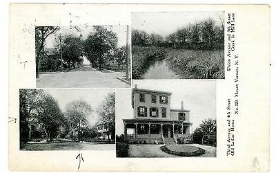 Mount Vernon NY-3RD AVENUE & 4TH ST-UNION AVE-MILL LANE- Postcard Mt