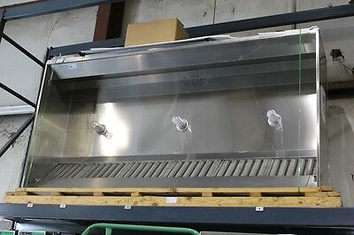 Exhaust Hood  76X119 Stainless Steel Commercial W/ Return Air