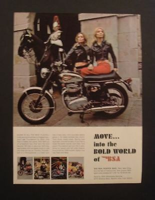 1969 BSA Birmingham Small Arms Blondes bike ad 1968 1967 1970  Poster/print/sign