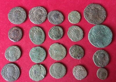20 uncleaned and unresearched UK found Roman coins