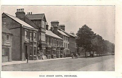 Rare Old Postcard - High Street South - Dunstable - Bedfordshire C.1908