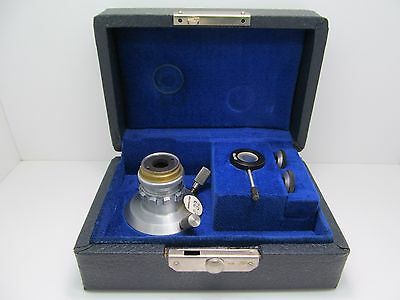 Rare Bausch & Lomb Interference Microscope Interferometer Objective Set w/ Case