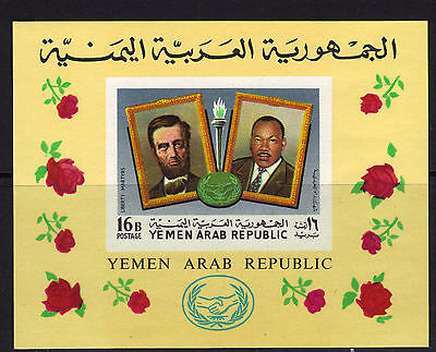 Yemen Michel Block 88 MNH 1968 Lincoln, Martin Luther King S/S 10€