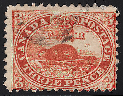 Canada 3d Beaver, Scott 12, VG used w/flaws, catalogue - $300