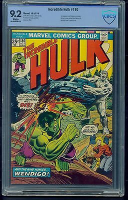 Incredible Hulk #180 (1974) CBCS Graded 9.2 ~ 1st App Cameo Wolverine ~ Not CGC