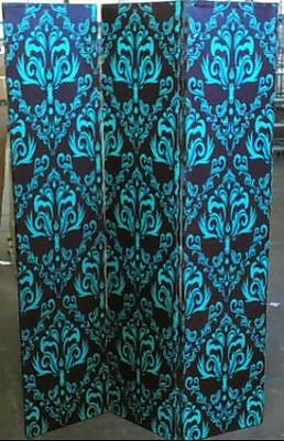 NEW Oriental Furniture Double Sided Damask 3 Panel Room Divider 6'H $188