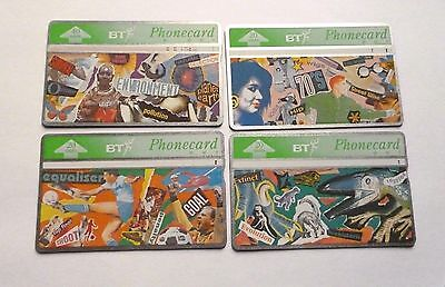 BTC  / YOUTH SERIES  / 3 x 20 & 1x 40 UNIT COMMERATIVE USED PHONECARDS
