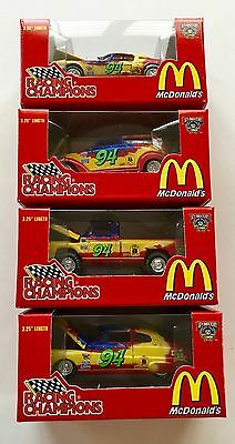 "1998 Set of 4 MCDONALD'S (Big Mac) Bill Elliott NASCAR ""94"" Team"
