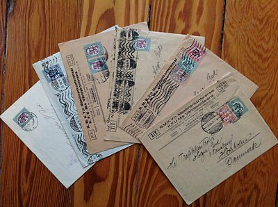Finland: 1926 - Fine Lot Of 6 Covers - Coat Of Arms - Overprints - To Denmark