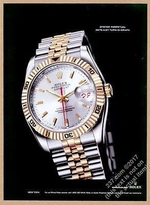 2006 Rolex Datejust Turn-O-Graph watch color photo vintage print ad