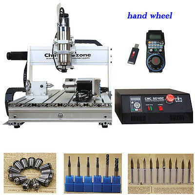 2200W 4 Axis 6040 CNC Router Engraver Milling Machine water cooling spindle