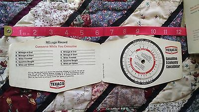 1 New Old Stock 1974 Texaco Oil Mileage Meter Greate Informative Piece