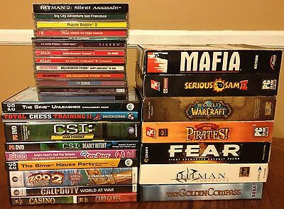 PC Computer Game Collection of 29 Games Wholesale Lot