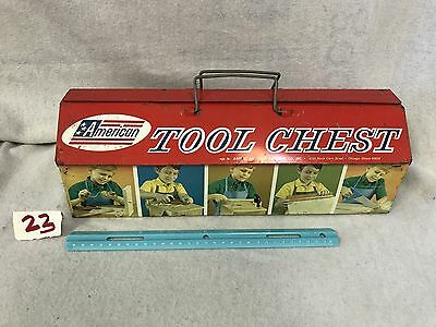 Vintage 1960's American Toy Co. Metal Tool Chest