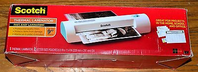 """Scotch Thermal Laminator Up to 9"""" Width 2 Letter Size Pouches TL901C-T"""