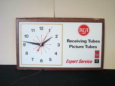 Vintage RCA Advertising Wall Sign + Clock