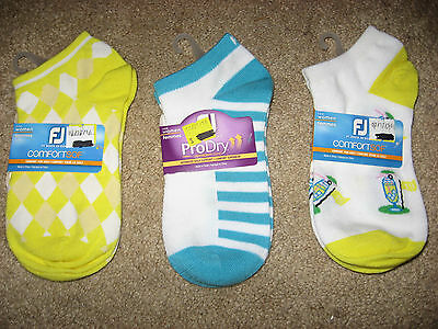 NWT 3 Pairs FOOTJOY Golf Comfort Sof Stretch Socks Size 6 - 9