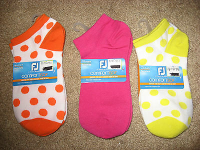 NWT 3 Pairs FOOTJOY Comfort Sof Stretch Golf Socks Size 6 / 9
