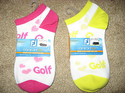 NWT 2 Pairs FOOTJOY Comfort Sof Stretch Golf Socks Size 6 / 9