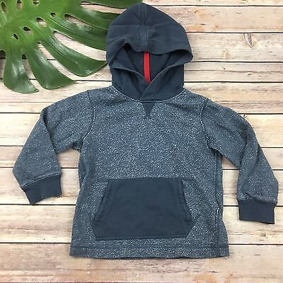 Hanna Andersson Boys Hoodie Size 90 3t Blue Gray Sweatshirt Cotton Pullover