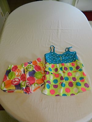 Justice Girls Mix Match Pajama Set Size 8-10 Spring Summer